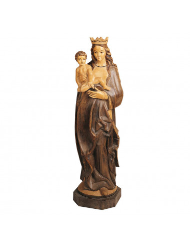Virgin with Child wood carving