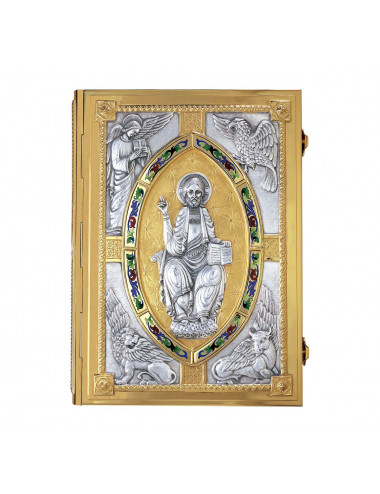 Book cover with central Pantocrator