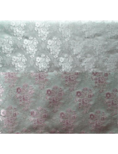 Brocade decorated with floral motifs