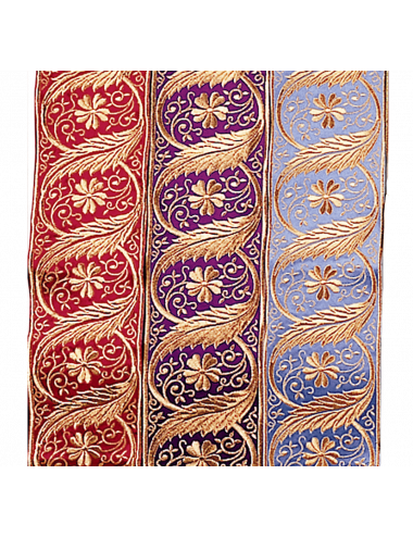 Banding with floral motifs