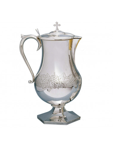 Flagon with wheat, grapes and vine leaves motifs