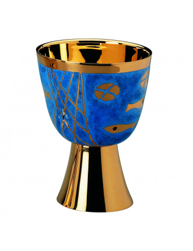 Chalice and Paten modern style cloisonne