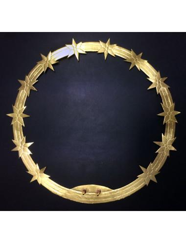 Aureola para Virgen estrellas planas