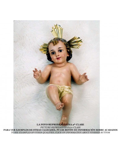 Lying Jesus Child wood pulp