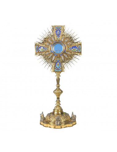 Baroque Monstrance sterling silver Apostles and Evangelists