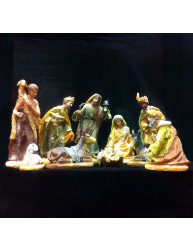 Nativity Set with Wise Men in resin 20 cm