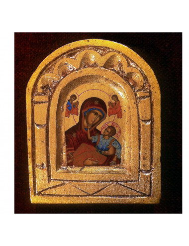 Icon Perpetual Help Madonna in wood hand painted