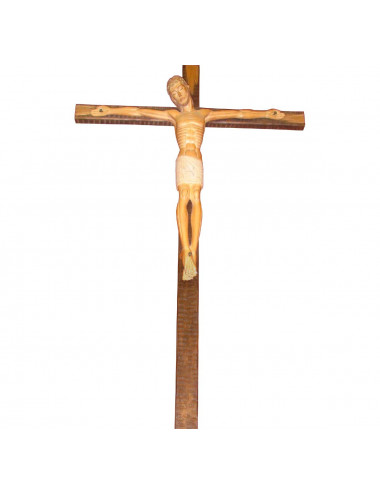 Romanesque Crucified Christ wood carving