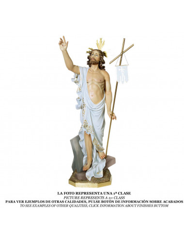 Risen Christ wood pulp