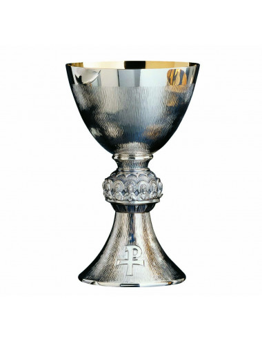 Chalice modern style hammered Last Supper