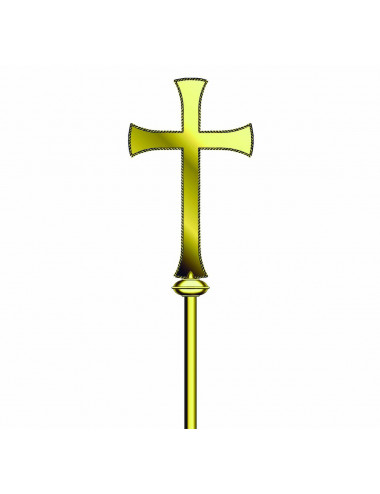 Classic style Processional Cross without Corpus