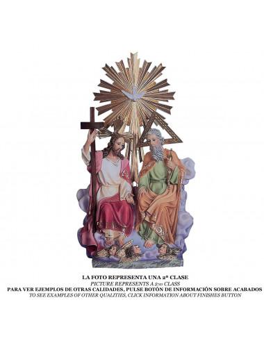 Santísima Trinidad pasta de madera