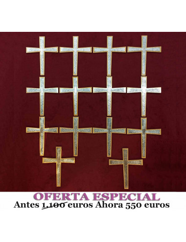 Stations of the Cross made in wood on metal