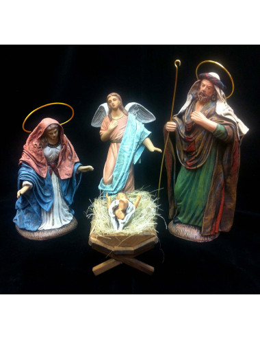 Nativity set mud and fabric