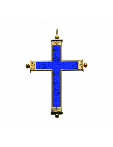 Pectoral Cross sterling silver and lapis lazuli