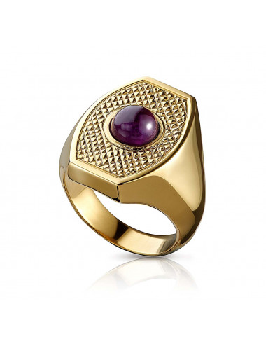 Bishop's Ring sterling silver with amethyst