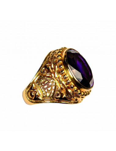 Bishop's Ring sterling silver amethyst