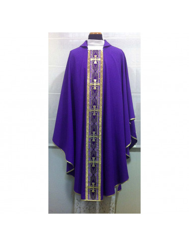 Gothic style Chasuble silk braid