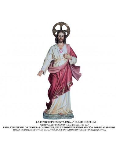 Sacred Heart of Jesus wood pulp