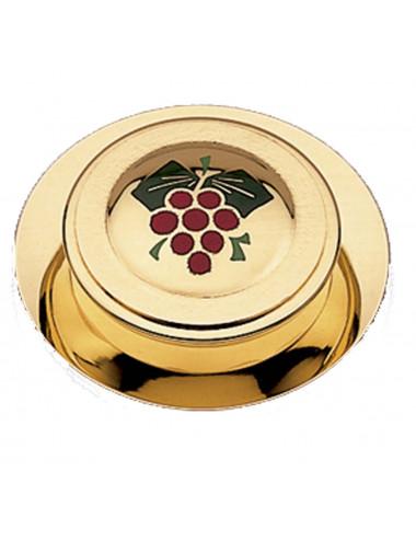 Portaviático con patena motivo uvas