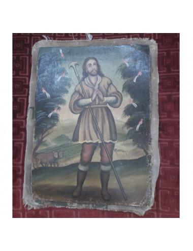 Oil on canvas of Saint Isidore