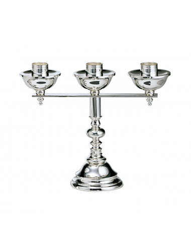 Three light Altar Candlestick made in brass