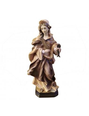Santa Apolonia realizada en madera