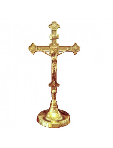 Altar Cross made in natural brass