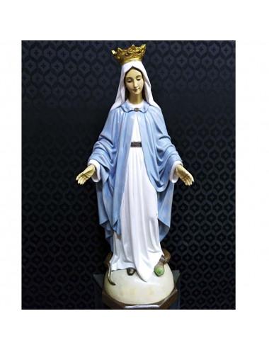 Virgen Milagrosa realizada en madera