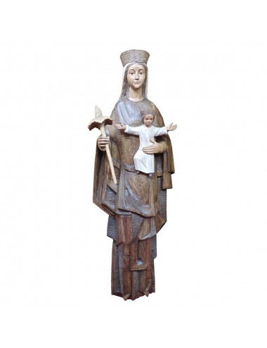 Virgin with Child image made in wood carving