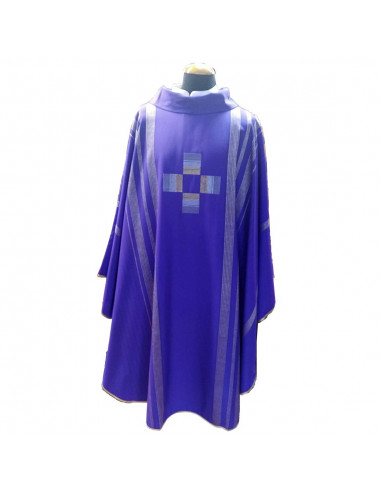 Chasuble made in wool and lame