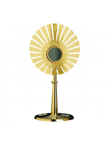 Modern Monstrance bread and wine