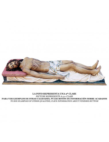 Recumbent Christ wood pulp