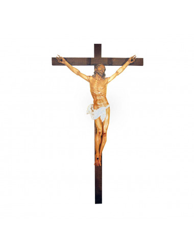Crucified Christ Caballero de Gracia wood carving