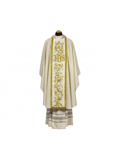 Hand-embroidered Chasuble.