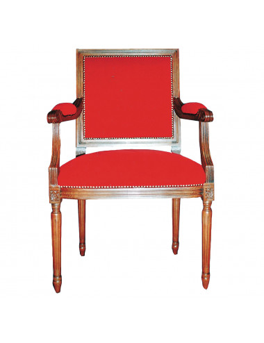 Central see chair made in wood and velvet