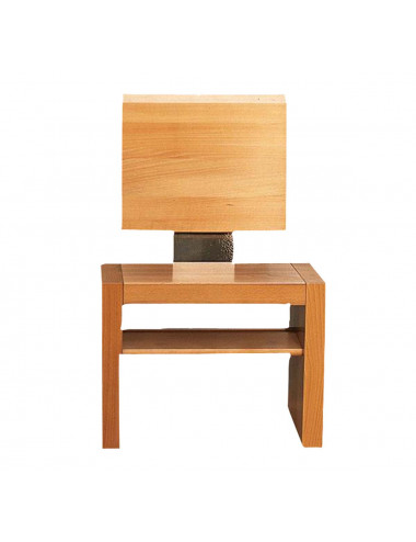 Central see chair made in wood