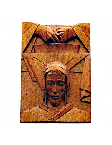 Stations of the Cross made in wood carving