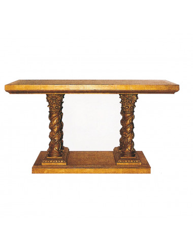 Altar table made in pinewood
