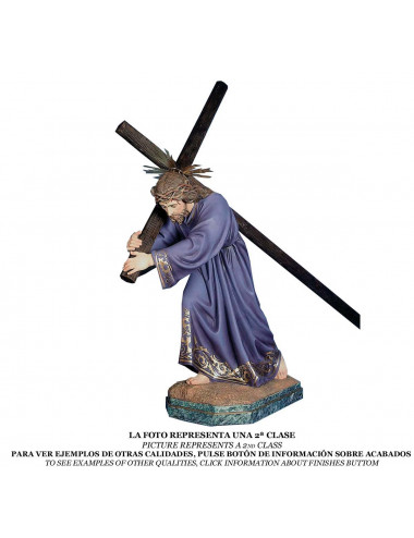 Nazarene Jesus with cross wood pulp