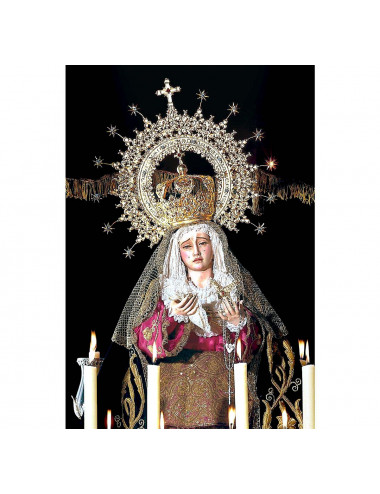 Our Lady of Sorrows for dressing wood carving
