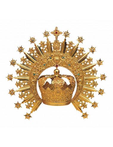 Corona Imperial metal o plata con piedras