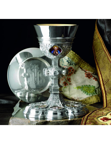 Gothic Chalice and Paten fire enamels