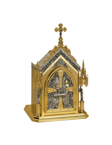 Tabernacle with lamb and seven seals motifs