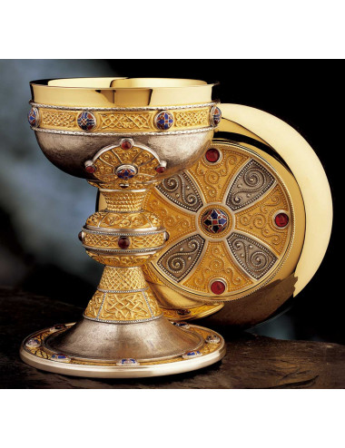 "Celtic ""Ardagh"" Chalice and Paten cabouchons"