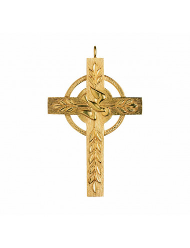 Pectoral Cross sterling silver Holy Spirit