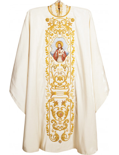 Gothic style Chasuble in silk satin