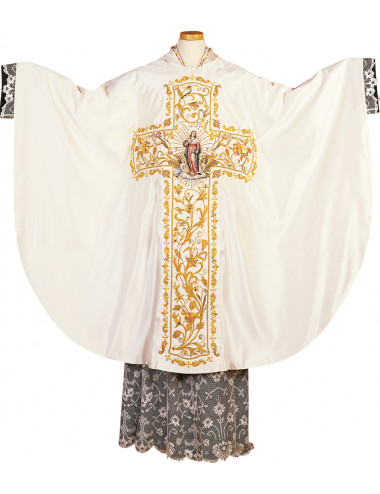 Gothic style Chasuble on silk satin