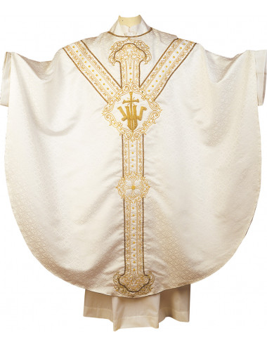 Gothic style Chasuble with JHS symbol