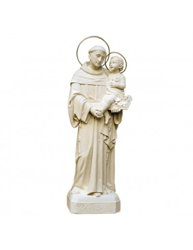 Saint Anthony withof Padua made in stone